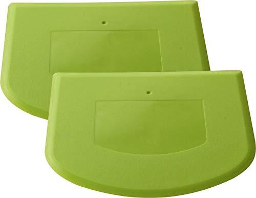 van Hoogen Profi - Teigschaber :: Flexibles Spezial-Plastik :: 2 Stück