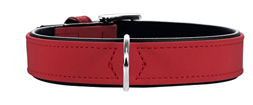 Hunter Hundehalsband Softie, Größe 60, rot/schwarz, Kunstleder