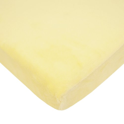 American Baby Company Fitted Portable/Mini-Crib Sheet, Heavenly Soft Chenille,Maize, for Boys and Girls
