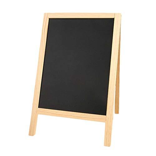 SUPVOX mini treppiede in legno lavagna a doppio lato Messaggio imbottito per bambini bar scuola...