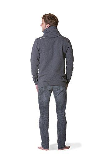 JUMPSTER Turtleneck Damen & Herren EXQUISITE mit Kragen, sehr kuscheliger Sweater, langer Hoodie (slim / regular) Slim Fit Grau M - 4