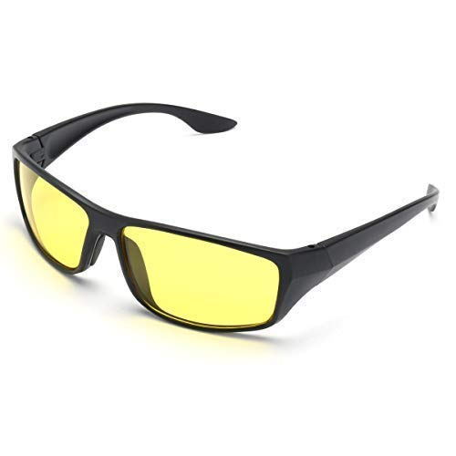 Generic Night Vision Glasses Men and Women for Bike Riding and Car Driving (Yellow)