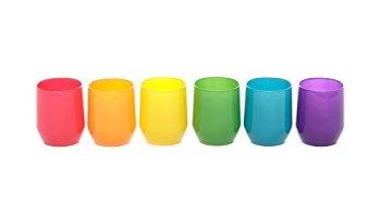 Set bicchieri pasabahce colorati in vetro 6 pezzi salepepeqb