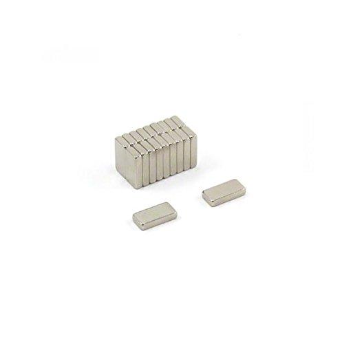 Magnetastico N52 - magneti rettangolari al neodimio, 10 x 5 x 2 mm, 20 pezzi, magneti per...