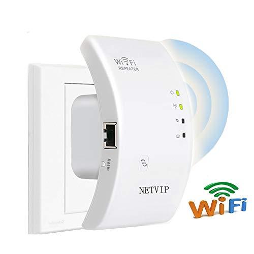 NETVIP Ripetitore WiFi N300 Wireless Amplificatore di Segnale WiFi 2.4GHz Ricevitore della Rete...