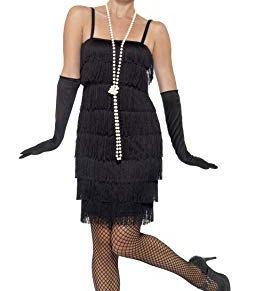 Smiffy's - Disfraz para mujer, Flapper, años '20, Negro, XXL (52-54 EU)