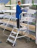 GÜNZBURGER Aluminium-Podestleiter, einseitig, 5 Stufen, 'Made in Germany'