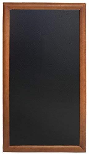 Securit - Lavagna lunga con cornice verniciata marrone scuro, 56x100cm