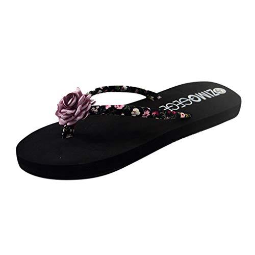 Ciabatte Sandali Donna Con Bassi Zeppe Eleganti Infradito Flip-Flop Pantofole Scarpe Donna...