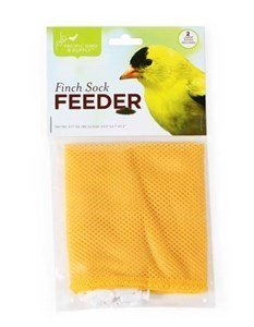 Pacific Bird Nyjer Seed Bird Feeder Finch Thistle Sock White Yellow 2pc 24X4.7""