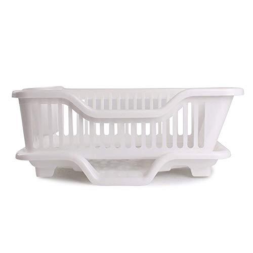 HUAIX Home Juego de vajilla Cesta de Almacenamiento Guía de Cintas de plástico para Cocina Bastidores de Cocina Marco de Drenaje (Color: Blanco)