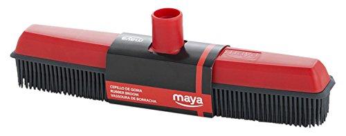 Maya 02029 - Escoba de goma, para recoger cabellos, color rojo y gris