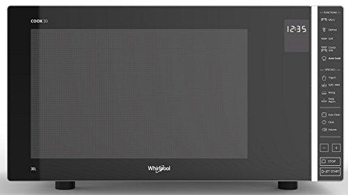 Whirlpool Forno a Microonde MWP 303 SB , 900 W, 30 Litri, Colore: Argento/Nero
