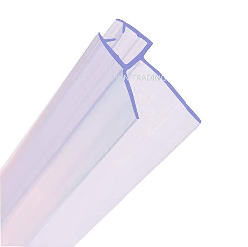 MNNHOME Bad Duschwand Türdichtung für 4–6mm gerades/gebogenes Glas für einer Lücke von bis...