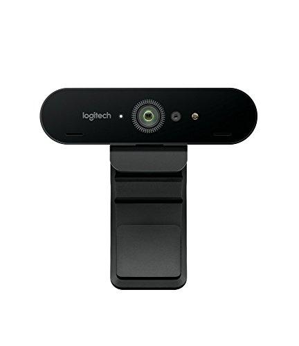 Logitech BRIO Webcam Ultra HD 4K per Streaming, Videoconferenze e Registrazione per Windows e Mac, Office, Nero