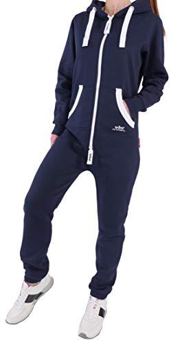 JQ2 Finchgirl Damen Jumpsuit Jogging Anzug Trainingsanzug Overall Navy XL 9d2f15e6bf