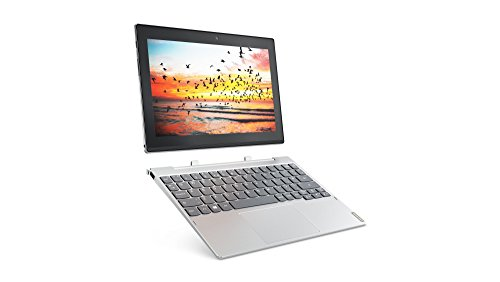 Lenovo Miix 320 25,7 cm (10,1 Zoll HD IPS Touch) Convertible Tablet-PC (Intel Atom Z8350, 4  RAM, 64  eMMC, LTE, Windows 10 Home) silber