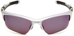 Oakley-Half-Jacket-20-Gafas-de-Sol-para-Ciclismo-Hombre-Silver-FrameIridium-Polarized-Lens-Talla-nica