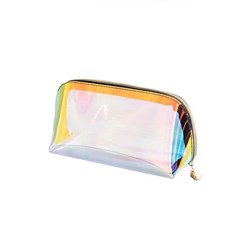 GuanjunLI - Trousse olografica per trucchi iridescente, con ologramma grande, per articoli da...