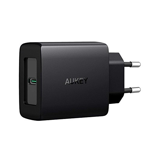 AUKEY USB C Caricabatteria da Muro con Power Delivery 3.0 27W Caricatore USB per Samsung Galaxy S8 / Note 8, Nexus, Google Pixel XL, LG, MacBook/PRO, iPhone XS/XS Max/XR, Nintendo Switch ECC.