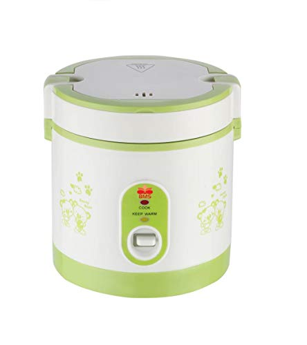 BMS Lifestyle Kitchen Master Electric Pasta and 6 Cup Rice Cooker with One Touch Control and Automatic Keep Warm Function (400W, Green)