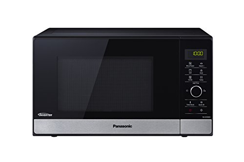 Panasonic NN-GD38HSSUG Forno a Microonde, 1000 W, 23 Litri, Nero, Banda Frontale Silver