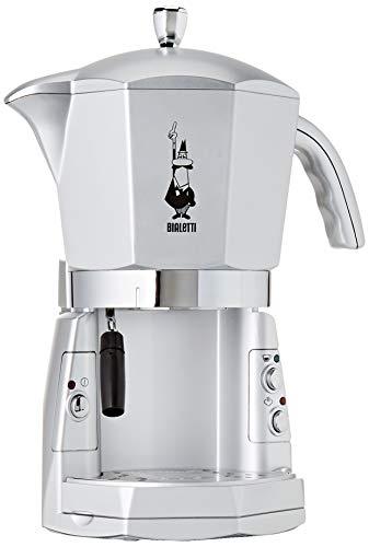 Bialetti Mokona Silver, Macchina Caffè Espresso, Sistema Aperto (per Macinato, Capsule Bialetti e...