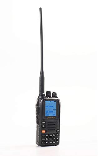 Wouxun KG-UV9D plus Walkie Talkie Profesional Largo Alcance Doble Banda VHF UHF PMR446 Impermeable IP55 Portatil Emisora Radioaficionado con Auricular y el Cable de Programación para Coche/caza, Black