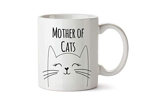 True Statements Tasse Mother of Cats - Kaffeetasse, Kaffeebecher, Katzen-Liebhaber