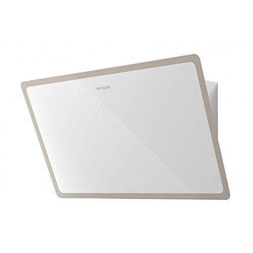 FABER Cappa a parete GLAM-LIGHT finitura vetro bianco e warm gray da 80cm