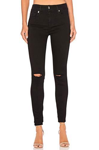 MONYRAY Damen Skinny Jeans Ultimate Regular Soft White NOOS Black, 28