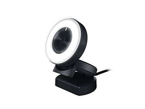 Razer Kiyo Streaming-Kamera (mit Beleuchtung, USB Webcam, HD-Video 720p 60 FPS und kompatibel mit Open Broadcaster Sofware)