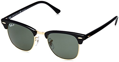 Ray-Ban Polarized Browline/Clubmaster Men's Sunglasses - (0RB3016901/5849|49|Crystal Green Polarized Color)