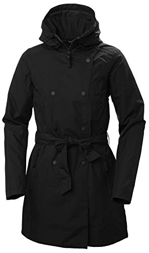 Helly Hansen Welsey II Isolato Impermeabile Trench, Giacca Invernale Donna, Black, XL
