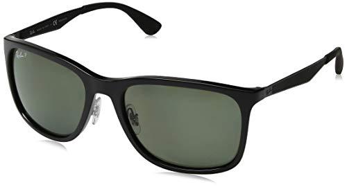 Rayban Polarized Square Men's Sunglasses - (8053672966336|57|Green Color Lens)