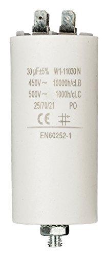 Fixapart W1-11030N. Larghezza: 40 mm, Altezza: 92 mm. Colore del prodotto: Bianco Dimensioni e peso -Larghezza: 40 mm -Altezza: 92 mm Caratteristiche -Colore del prodotto: Bianco -Tipo di condensatore: Fixed capacitor -Fattore di forma: Cilin...