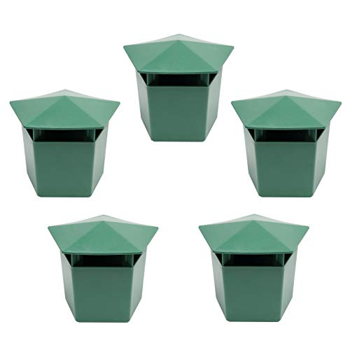 Beslands 5pz Lumaca trappola 9,9x 6,1x 7,1cm verde eco-friendly Catcher, Lyndee, 3.9' x 2.4' x 2.8'