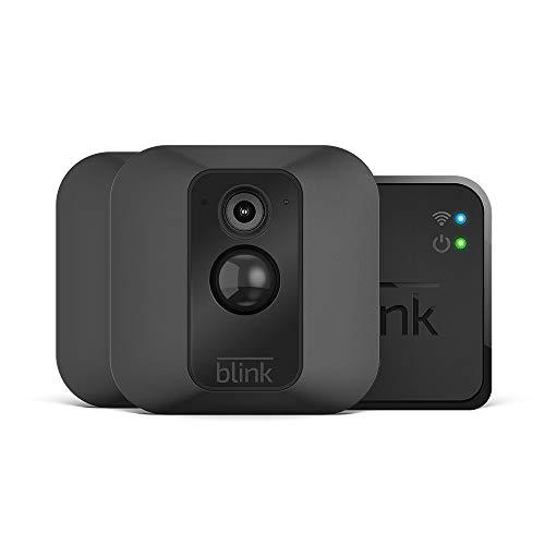 Blink XT - Système de sécurité à domicile avec détection de mouvement, montage mural, vidéo HD, 2 années d'autonomie de la pile et stockage dans le Cloud inclus - Système à 2 caméras