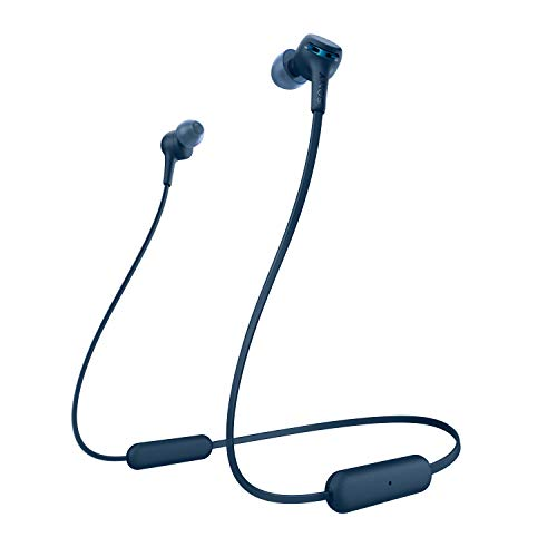 Sony WI-XB400 Wireless in-Ear Extra Bass Headphones with Neck-Band Design - Blue