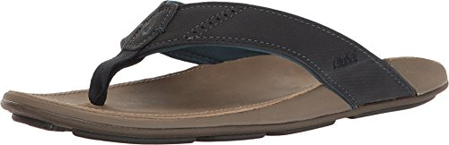 OLUKAI Men's NUI Trench Blue/Clay 11 D US D (M)
