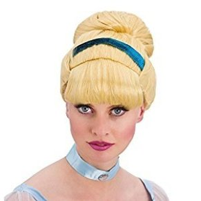 Ladies Sweet Cinders Blonde Wig Fairytale Fancy Dress by Wicked Wicked