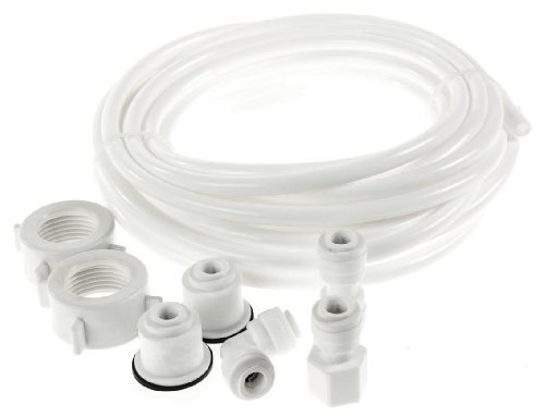 Kit con tubo + raccordi universali per alimentazione dell'acqua dei frigoriferi all'americana
