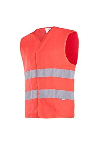 Sioen 9044A2MX1FR1L Elba (HV rosso) gilet alta visibilità, grande, colore: Rosso