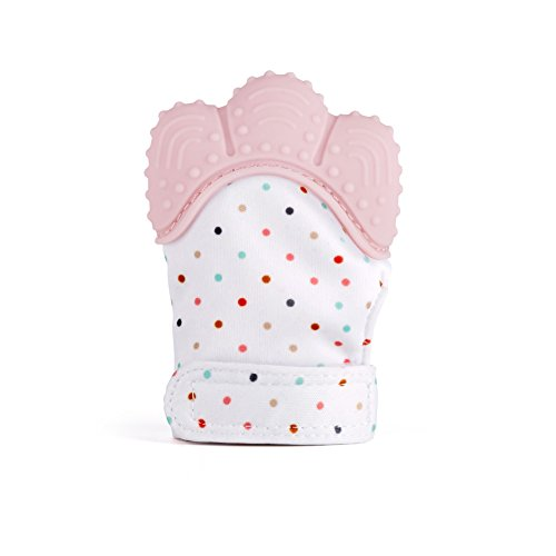 Shinegown Baby Teething Mittens guanto lenitivo sollievo dal dolore età 3-24mesi in silicone...