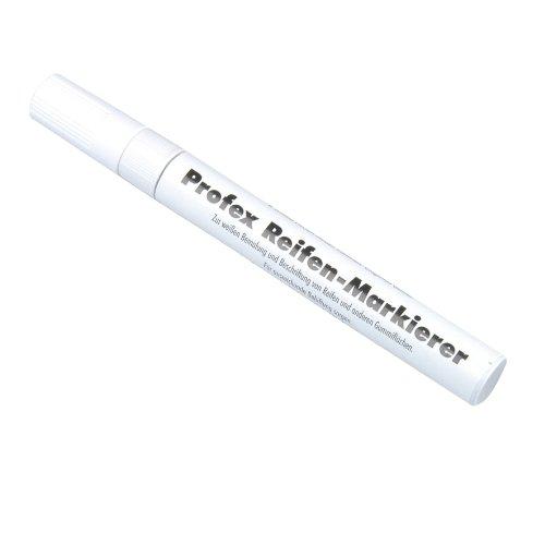 Unitec 84724 Reifenmarkierstift flüssigweiß, wasserfest