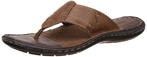 Redtape Men's Brown Leather Sandals and Floaters - 9 UK/India (43 EU)