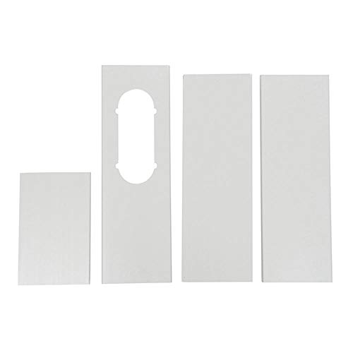 BuyChoice Portable A/C Oval Window Vent Slide Plate Air Conditioner Wind Shield Kit/Piece For Haier