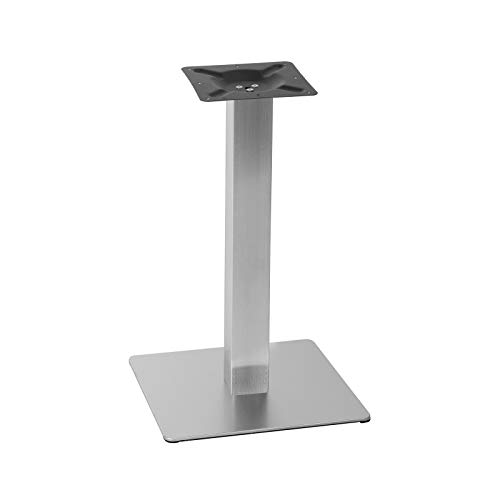 "Tischgestell aus Edelstahl Modell\""Q\"" Single Ausführung Bodenplatte 45x45mm Höhe 71cm"