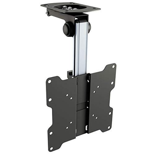 RICOO Supporto da soffito per TV o Monitor Montaggio D0122 Staffa televisore piatto inclinabile...