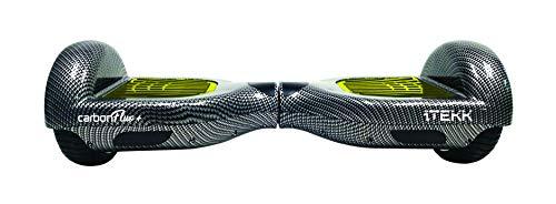 Itekk Hoverboard 6.6 Carbon +, Assicurazione AXA 'Tutela Famiglia' inclusa, Giallo Fluo